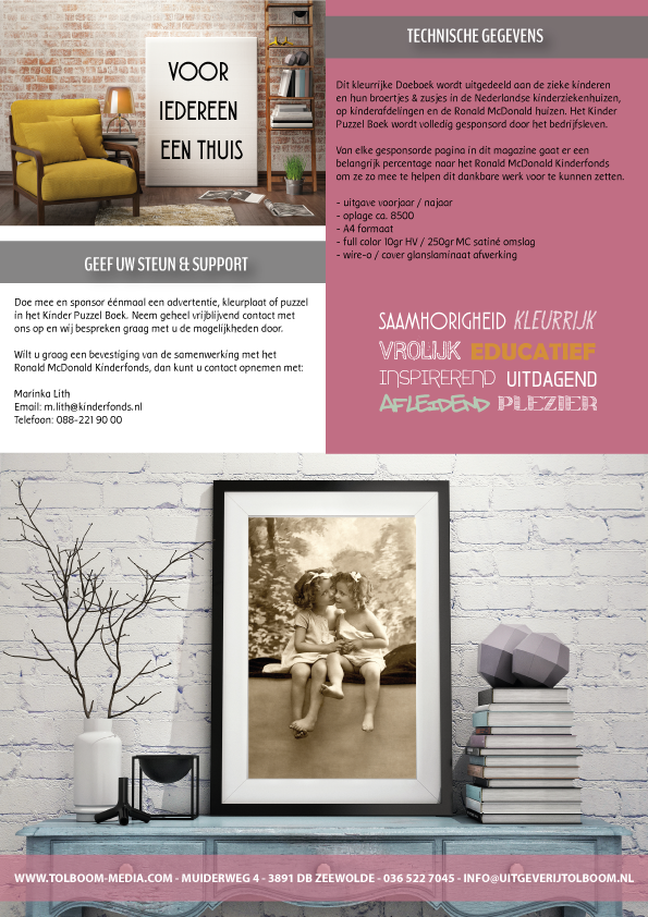 Grafisch Werk - Brochure & website ontwerp t.b.v. het Kinder Puzzel Magazine
