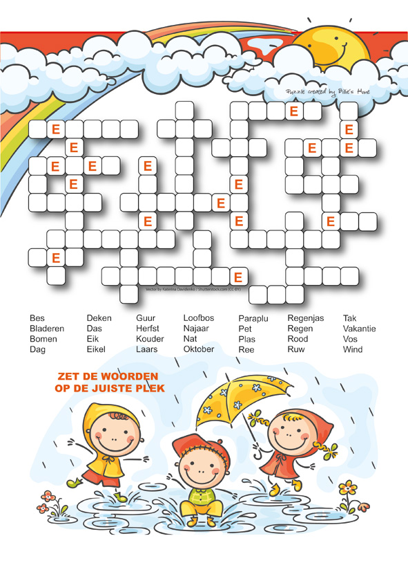 Puzzels - Kinder Puzzel Magazine herfst editie 2017