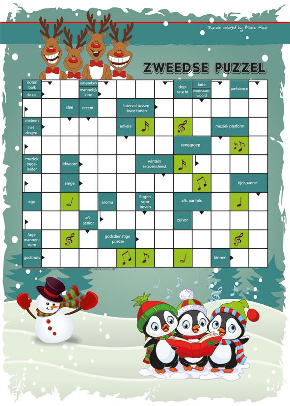 Puzzels - Kinder Puzzel Magazine winter editie 2017