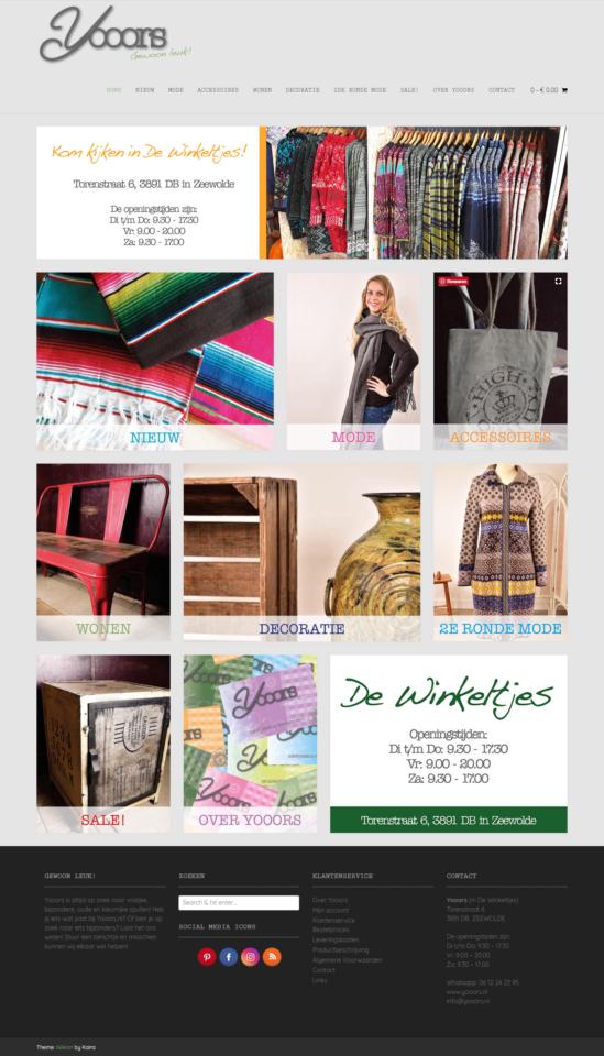 Grafisch werk - Website restylen Yooors.nl